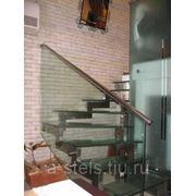 Лестницы из металла (нержавеющая сталь) модель 23 фото