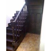 """Изготовление лестниц из лиственницы """"под ключ"""" фото"""
