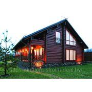 Изготовление домов из лафета фото