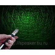 Зеленая лазерная указка 100 мВт + насадка «Звездное небо» фото