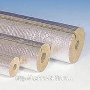 Изоляция ROCKWOOL толщина 50 мм. Цилиндры на синтетическом связующем, кашированные алюминиевой фольгой ∅ 18, Россия фото