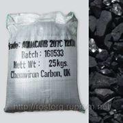 Активированный уголь на основе кокосовой скорлупы, фракции 12х30, мешок 25 кг (~ 50 л) фото
