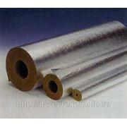 Цилиндры минераловатные кашированные алюминиевой фольгой Роквул 18*30мм (уп .12мп) фото