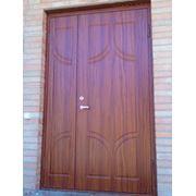 Металлические двери с отделкой MDF-ом фото