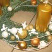 Композиция из ели Рождество фото