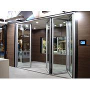 Двери раздвижные алюминиевые фотография