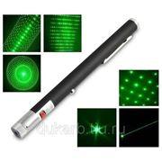 Зеленый лазер 200 mW + 5 насадок фото