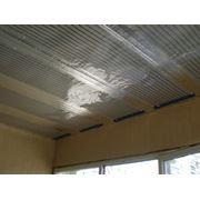 Монтаж пленочной системы отопления ЗЕБРА на потолке фото