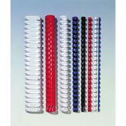 Пружины для переплета пластиковые d 10 мм (100шт) Цвета в Асортименте фото