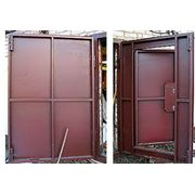Распашные гаражные ворота фото