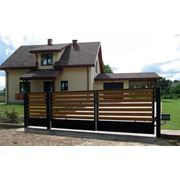 Ворота деревянные фото