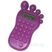Калькулятор с головоломкой фиолетовый в виде ступни (843674) фото