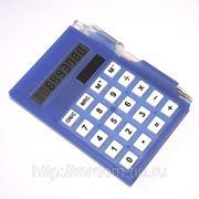 Калькулятор с блокнотом и ручкой синий (815760) фото