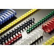 Пружины для переплета пластиковые ProMega Office 10мм прозрачные 100шт/уп. фото