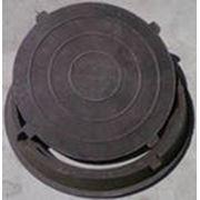 Люк канализационный песчано-полимерный фото
