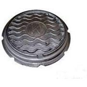 Люк чугунный тяжелый канализационный ГОСТ 3634-99 фото