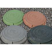 Канализационный люк полимерно-песчаный Цветной фото
