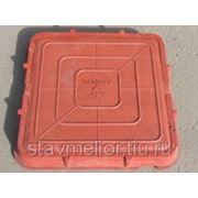 Люк полимерно-композитный смотровых колодцев квадратный коричневый Ставрополь фото