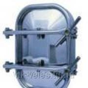 Нержавеющий люк- дверь для цемента 420x530 открывающийся наружу, горизонтальный