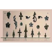 Пики кованые для забора, детали кованые, штампованые детали для художественной ковки. фото