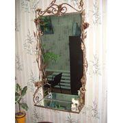 Зеркало с элементами художественной ковки, 2 фото