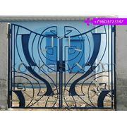 Ворота стильные фото