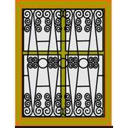Кованая решетка на окно РК-13