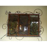 Кованая оконная решетка 10 фото