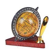 Глобус сувенирный, подставка-треугольник с лепестком для ручки фотография