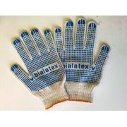 Перчатки х/б Bialatex повышенной прочности с ПВХ покрытием фото