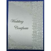 Папка для свидетельства о регистрации брака руч. работы (уп.1/48шт.) фото