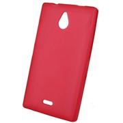 Чехол силиконовый матовый для Nokia lumia X2 dual красный фото