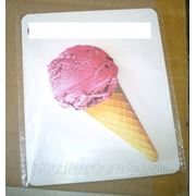 Стикеры мороженное 3 вид. рожок розовый (828984) фото
