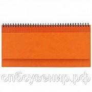 Планнинг кожзам Velvet оранжевый, коричневый, синий, серый, красный, зеленый. Тиснение логотипа фото