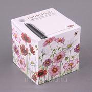 """Блок листов для записей """"цветы"""" 9*9 см.800 листов (850450) фото"""