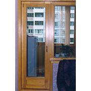 Двери балконные деревянные фото