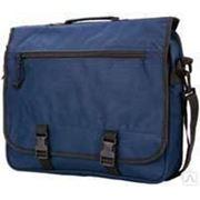 Конференц-сумка, синяя с черным. Размеры: 32х40х10 фото