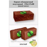 Кирпич полуторный облицовочный СКВ-2-Д 125х250х88 (рваный камень) красный фото
