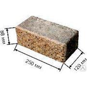 Кирпич промывной гранит полуторный 250х120х88 коричневый фото