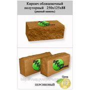 Кирпич полуторный облицовочный СКВ-2-Д 125х250х88 (рваный камень) персиковый фото