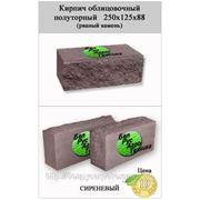 Кирпич полуторный облицовочный СКВ-2-Д 125х250х88 (рваный камень) сиреневый фото