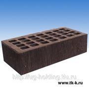 Кирпич керамический Железногорский темно-коричневый бархат М150 фото