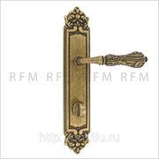 Дверная ручка на планке LUXOR (ЛЮКСОР) для сантехнического замка. Арт. ММ 2100.W.26 фото