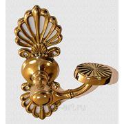 Межкомнатная дверная поворотная ручка Горбушка или Ромашка на фланце с лопухами фото