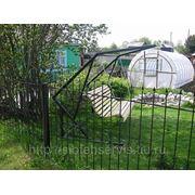 Забор открытый с пиками из кругляка 10мм фото