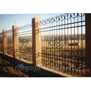 Кованый забор фото
