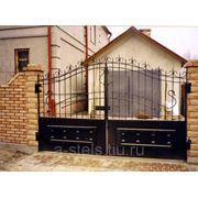 Кованые ворота и калитка модель 3