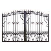 Ворота прозрачные арочные фото