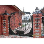 Кованые ворота и калитки фото