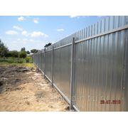 Забор из проф. листа фото